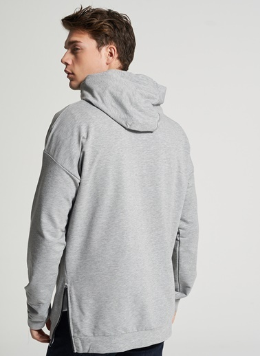 Pi π Kapişonlu Sweatshirt Gri